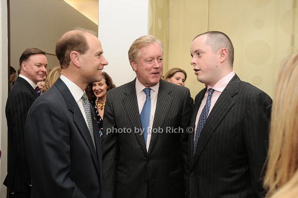 HRH The Prince Edward, Earl of Wessex, Frank Burch, Michael Burch<br /> photo by Rob Rich © 2010 robwayne1@aol.com 516-676-3939