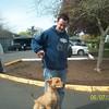 Christer is training Lu Lu....good dog.....