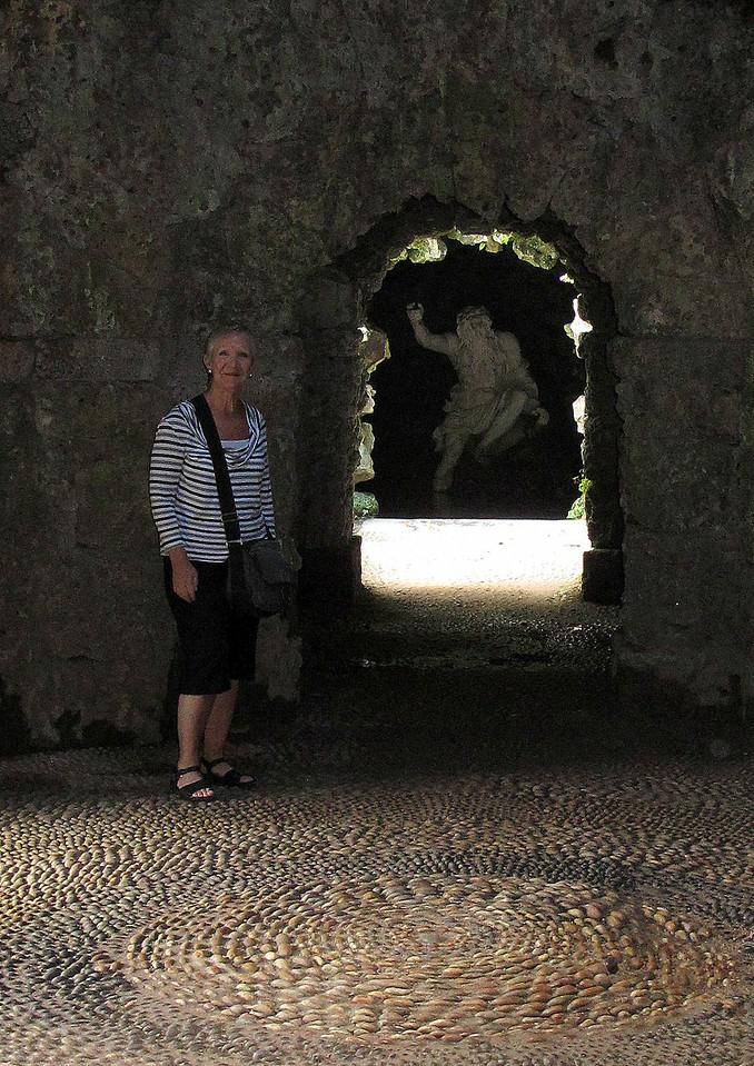 Di in the Grotto.