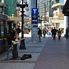 Right outside Waterfront Skytrain station ZZ Top inspired blues I was in heaven and my walk had just begun
