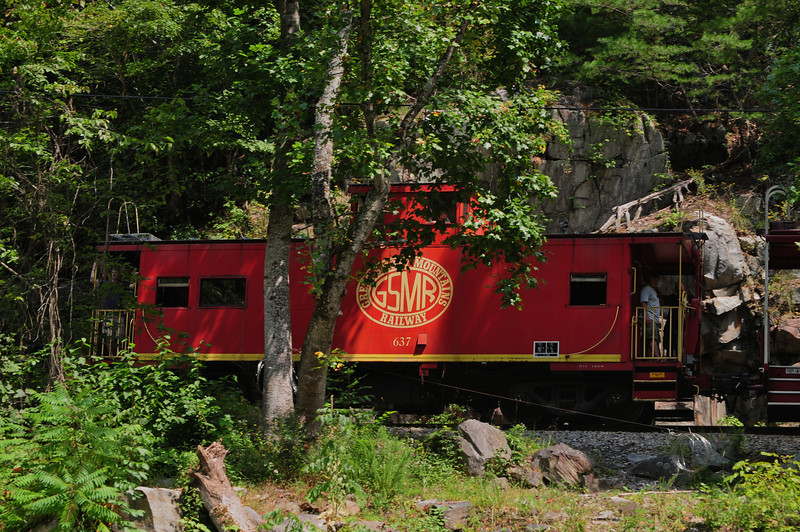 Something you don't see anymore.  The Caboose!