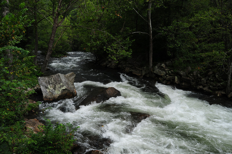 The Nantahala River.  The is the main rapid of the river where you'll see rafters and kayakers later in the album.