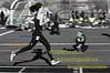 ahead by a toe, racing Pan