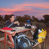 Enjoying powder sugar atop Fry Bread for a sunset dessert.