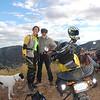 Nicole and buddy Grant Sergott with a vista of Bisbee, AZ.