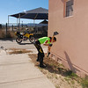 Donating my time with some well needed weeding at the Tohdenasshai Shelter Home in Kayenta, AZ.