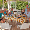 Thomas, Mario, Silvana, Anna, Cicci and Angelo at lunch, Villa gio