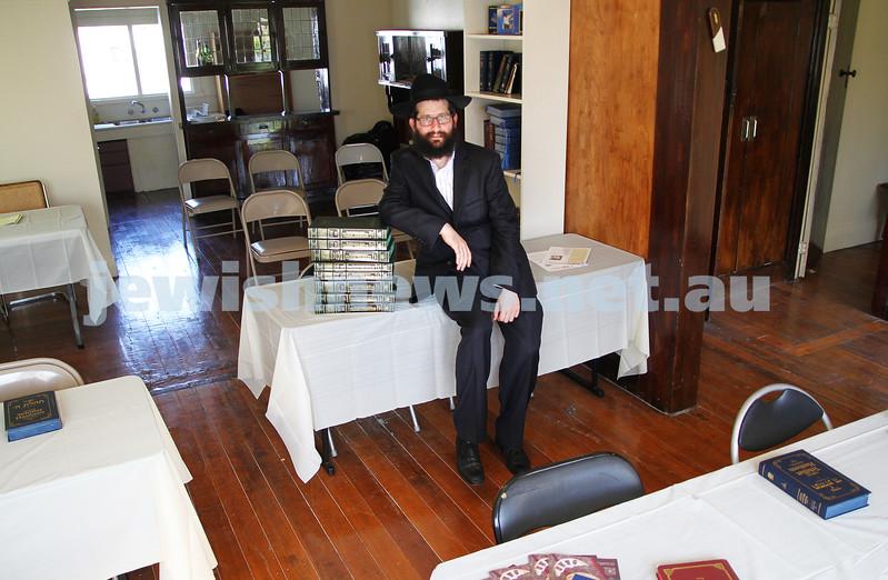 Rabbi Chaim Herzog at the new Chabad Melbourne shul in Caulfield. Photo: Peter Haskin