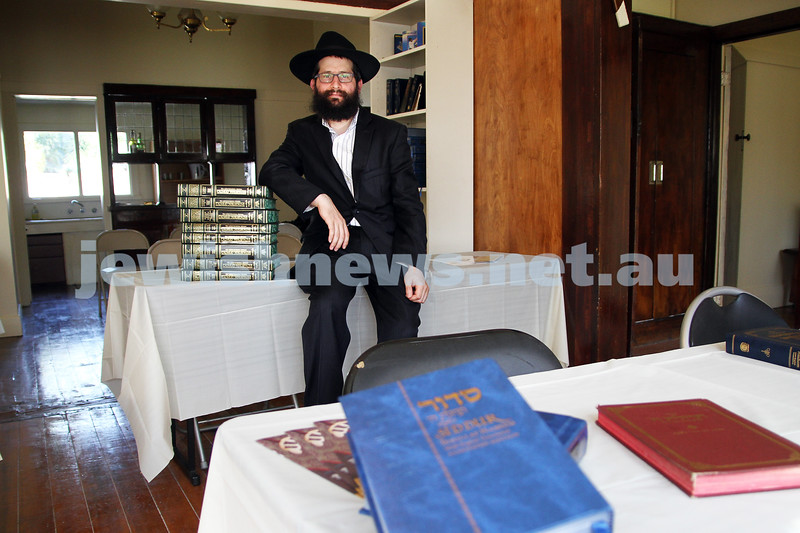 Rabbi Chaim Herzog at the new Chabad Melbourne shul in Caulfield. Photo: Peter Haskin