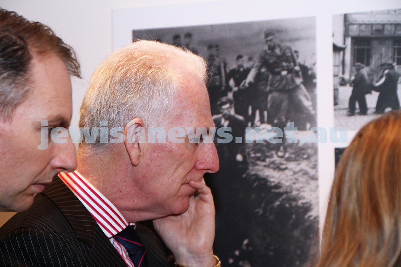 23-8-12. Victorian Minister for Education Martin Dixon (centre) visits the Holocaust Museum. Pictured with Member for Caulfield David Southwick.  Photo: Peter Haskin
