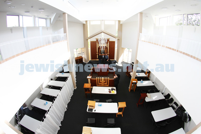 23-10-12. Newly completed interior of the Friends of Refugees of Eastern Europe ( FREE ) synagogue on Carlisle Street. Photo: Peter Haskin
