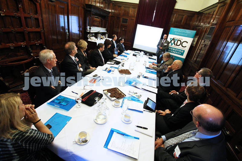 25-10-12. ADC Campus Anti Semitism Conference at Victorian Parliament House. Photo: Peter Haskin