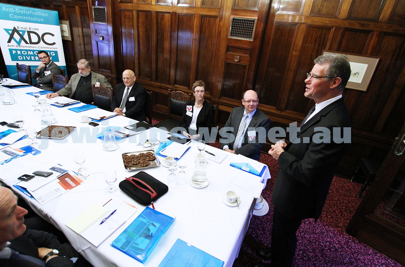 25-10-12. ADC Campus Anti Semitism Conference at Victorian Parliament House. Peter Hall, Minister for Higher Education. Photo: Peter Haskin