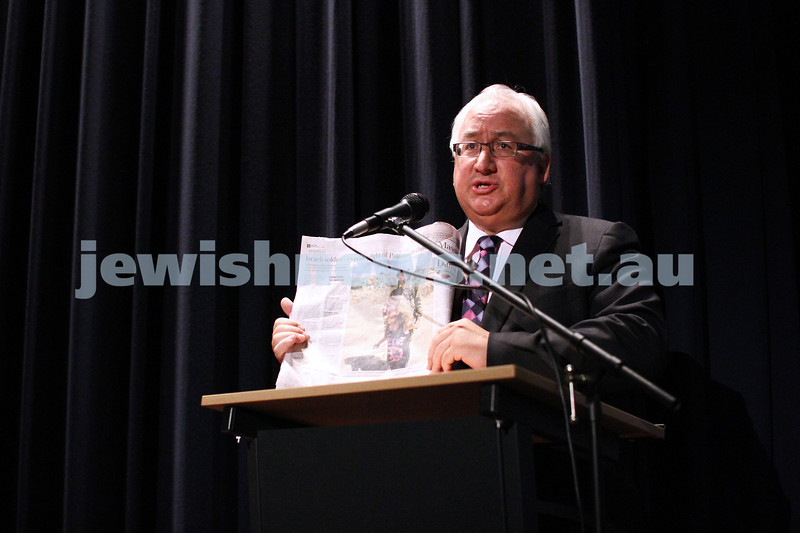 28-8-12. Opening night of the 2012 Israeli Film Festival at Palace Cinemas, Como. Michael Danby. Photo: Peter Haskin