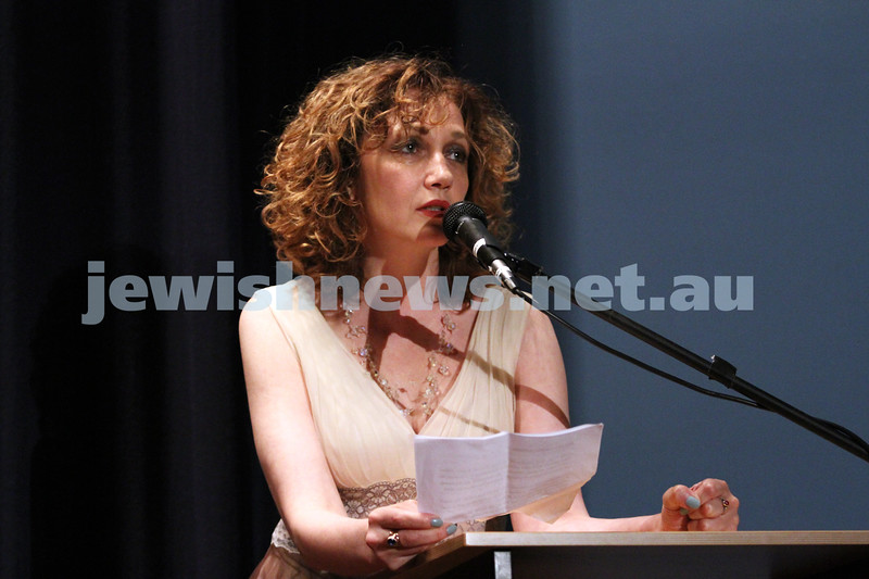 "28-8-12. Opening night of the 2012 Israeli Film Festival at Palace Cinemas, Como. Actress Evgenia Dodina, star of ""Invisible"". Photo: Peter Haskin"