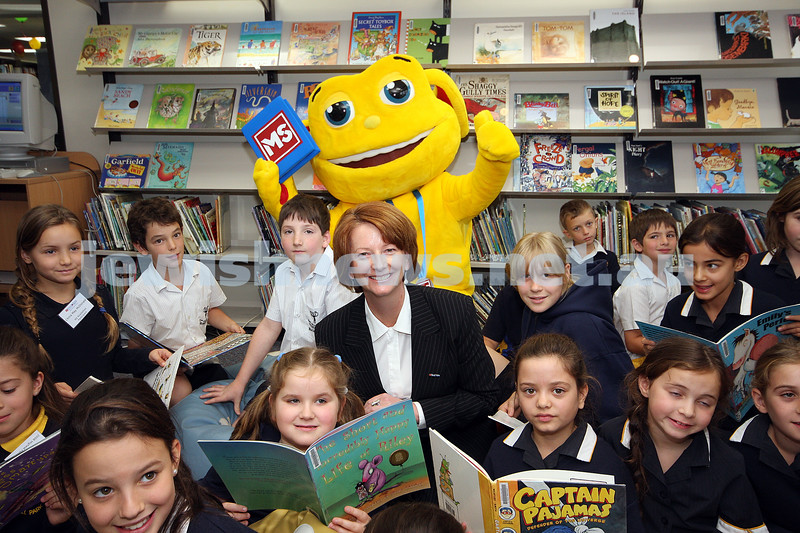 8/5/09. Launch of the 2009 MS Readathon at Bialik College. This years Readathon was launched by Australian Deputy Prime Minister Julia Gillard. photo: peter haskin