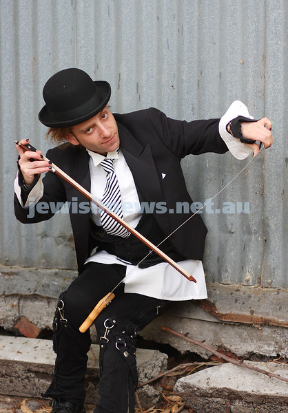 David Rosenblatt. Grand final of Australia's Got Talent. Playing the saw. photo: peter haskin