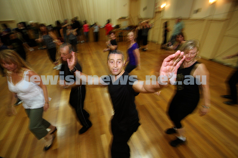 Hora Israeli Dancing group. Hosted Gadi Bitton from Israel. March 2009.<br /> photo: peter haskin