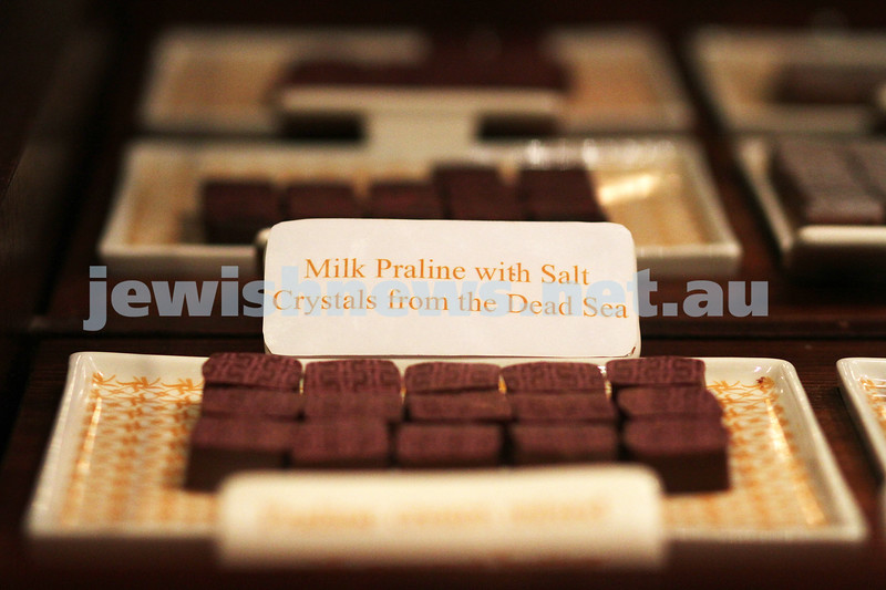 19-7-11. Chocolate with salt from the Dead Sea at Max Brenner's in South Melbourne. Photo: Peter Haskin
