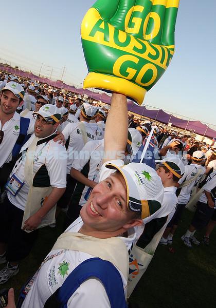 18th Maccabiah Games. Israel 2009. Opening Ceremony. Anthony Goodridge. photo: Peter Haskn