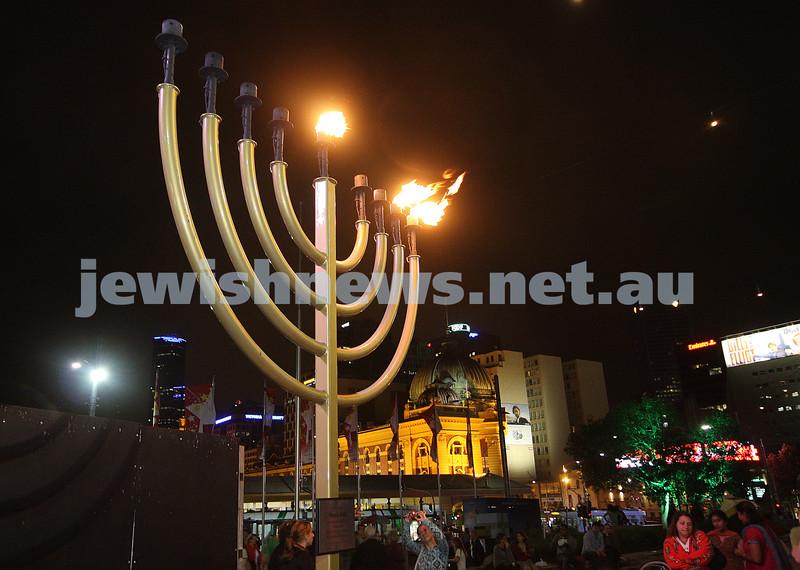 Chanukah Federation Square 2008. photo: peter haskin