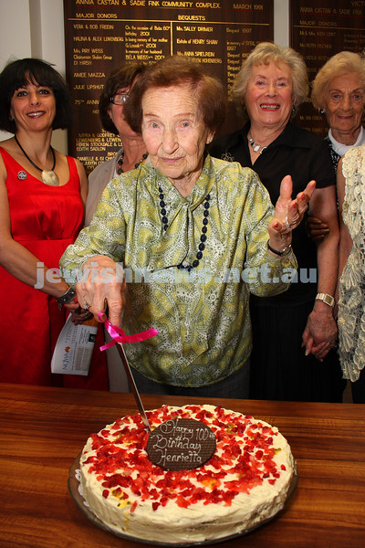 3/12/09. Henrietta Malley celebrating her 100th birthday at a luncheon in her honour at NCJWA Vic. photo: peter haskin