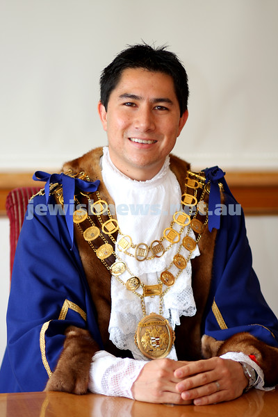 22/12/09. Councillor Steven Tang re-elected Mayor of Glen Eira. Photo: Peter Haskin