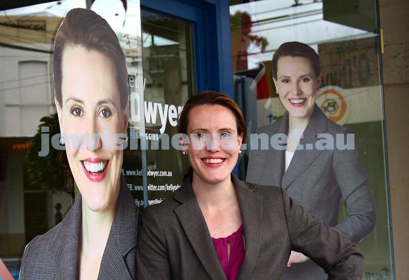 17-11-09. Kelly O'Dwyer outseide her campain office. New candidate for the seat of Higgins left vacant by the retirement of Peter Costello. Photo: Petr Haskin