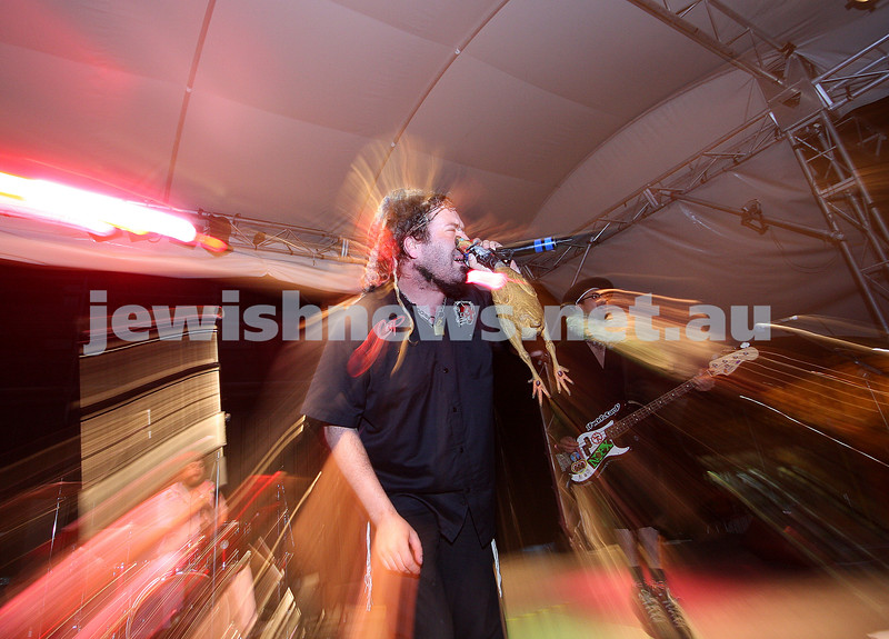 Yidcore. Chanukah at Federation Square. 2007. Photo: Peter Haskin