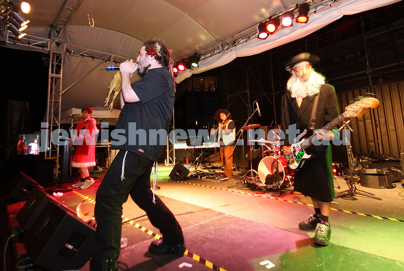 Yidcore. Chanuka at Federation Square 2007. photo: peter haskin