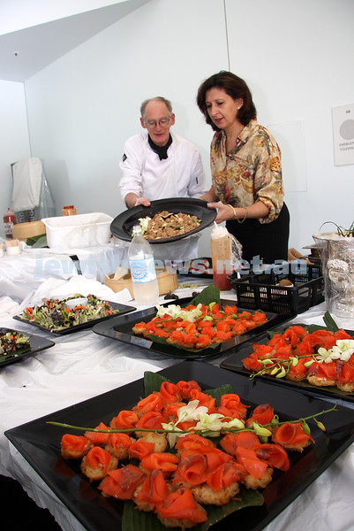 Unger catering at Parliament house for Israel 60th. Sharon Unger. photo: Peter Haskin