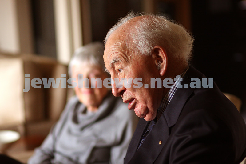 24/9/09. Interview with Sir Zelman Cowan at his home in Grange Rd Toorak on the occasion of his 90th birthday. photo: peter haskin