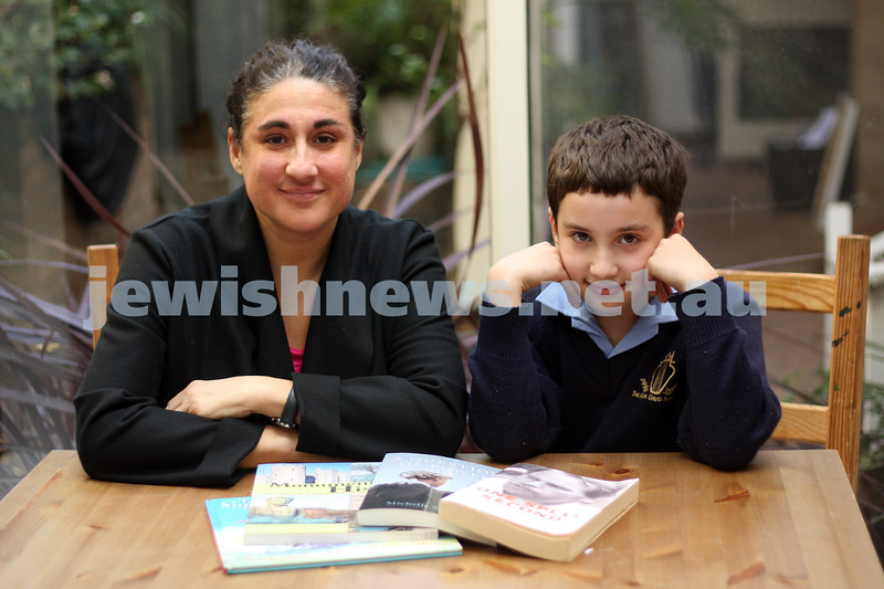 2/9/09. Michelle Schwarz and Raphael Danos (mother and son).<br /> Both were shortlisted for literary awards at the same time. photo: peter haskin