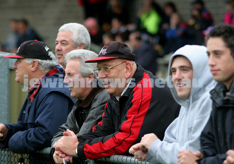 AJAX Football Club stalwart John Brustman stands on the boundary line of a recent game. photo: peter haskin