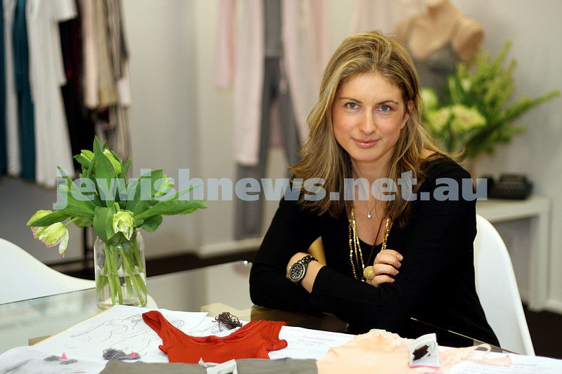 Dana Burrows. May 4, 2009. Director and founder of Love and Lustre Lingerie. photo: peter haskin