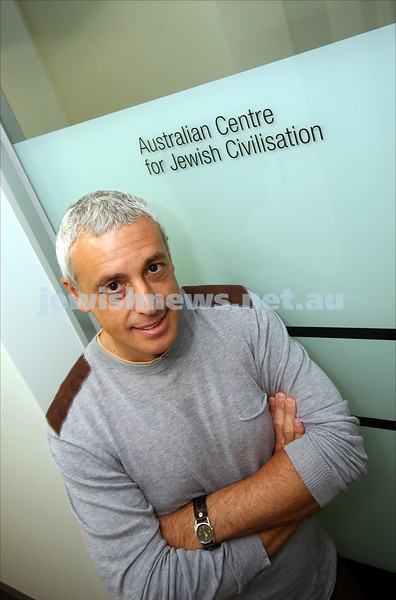 Associate Professor Mark Baker at the new premises for Australian Centre for Jewish Civilisation at Monash University, Caulfield campus. 11/5/09.  photo: peter haskin
