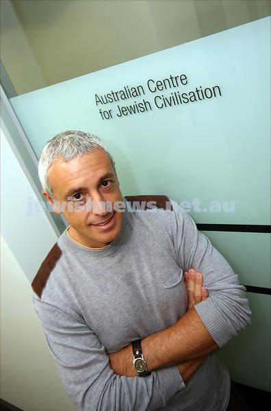 Associate Professor Mark Baker at the new premises for Australian Centre for Jewish Civilisation at Monash University, Caulfield campus. 11/5/09.  photo: peter haskin