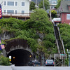 Ketchikan tunnel --and note stairs from street to house