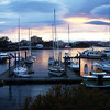 Victoria harbor at sunset