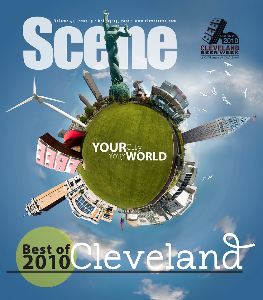 "Assignment: Scene needs an epic cover image for the Best of 2010.<br /> Composite of several of my shots of local landmarks. Copy and Scene logo were added by Scene. <a href=""http://www.clevescene.com"">http://www.clevescene.com</a>"