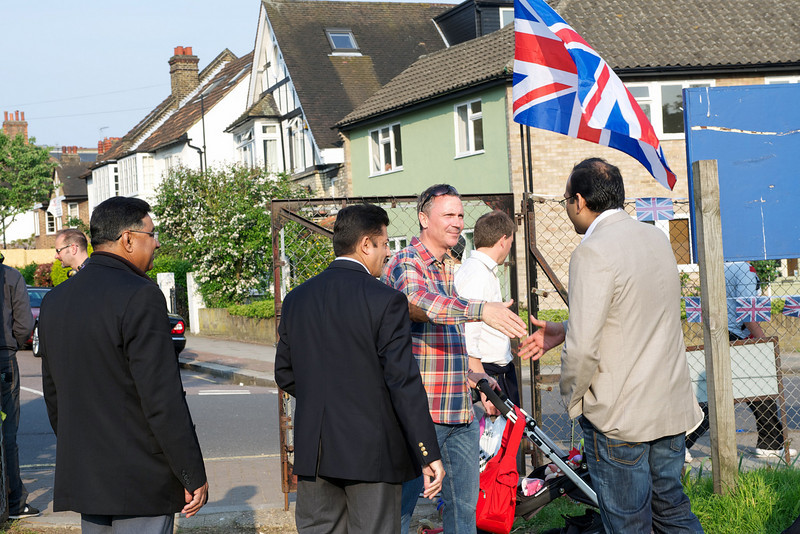 Guests arriving for the Royal Wedding Party held by the Ahmadiyya Musllim Community UK