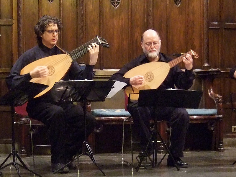 VENERE LUTE QUARTET.  GEMS Live! showcase concert, January 11, 2009, NYC.  Photo by Charles Coldwell.