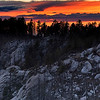 Sunset over the Pusch Ridge Wilderness and Wilderness of Rocks