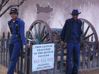 "Young Buffalo Soldiers taken a break at RAWHIDE ""Bill Pickett Rodeo"" before the second show Grand Enty."