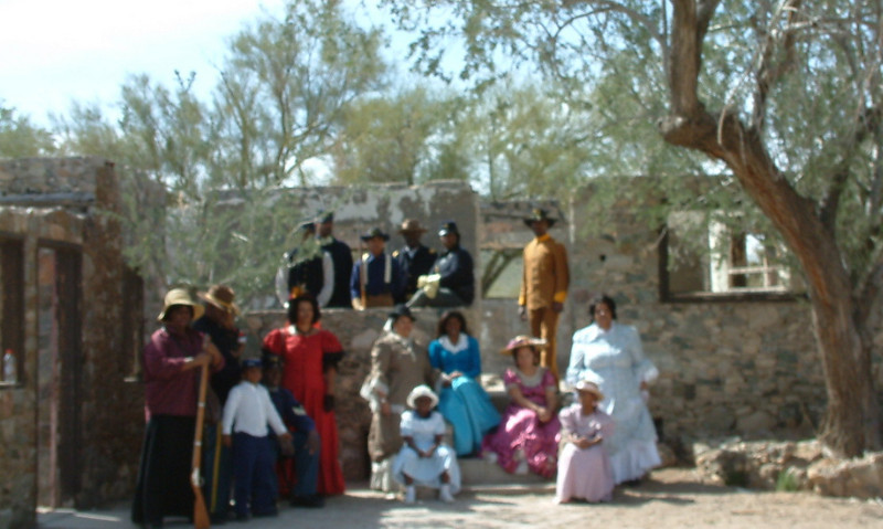 Buffalo Soldiers of the Arizona Territory - Ladies and Gentlemen of the Regiment, Mesa, AZ  March 5, 2011