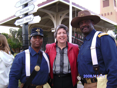 Veterans Day in Scottsdale, McCormick Ranch.  Pvt. Michelle London-Marable, Gov. Janet Napolitano and Cmdr Fred Marable.