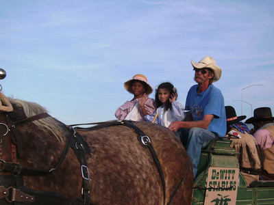 Haywagon ride for the children of the Buffalo Soldiers of the Arizona Territory - Ladies and Gentlemen of the Regiment, Mesa.