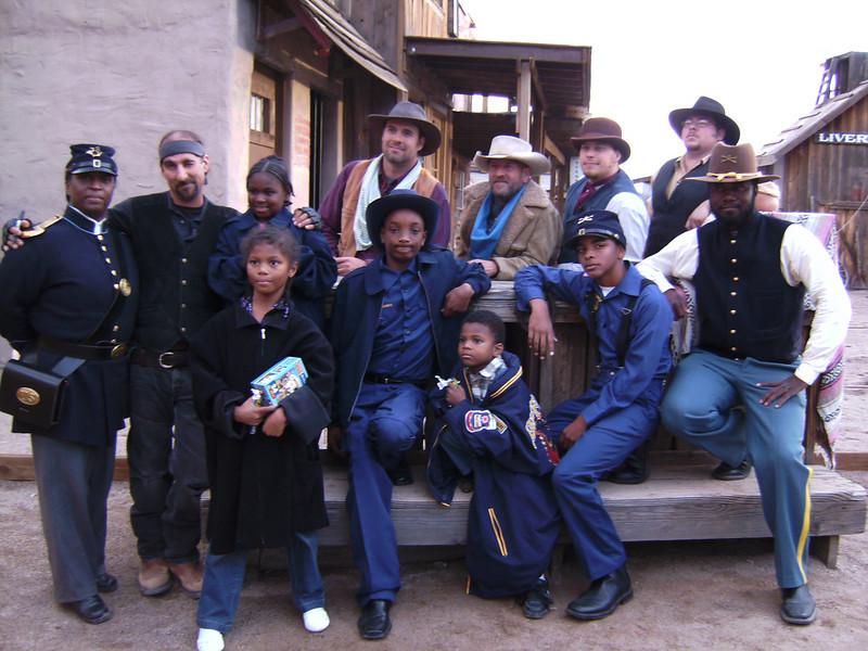 "RAWHIDE ""Bill Pickett Rodeo"".  Buffalo Soldiers of the Arizona Territory and The Arizona Roughriders."