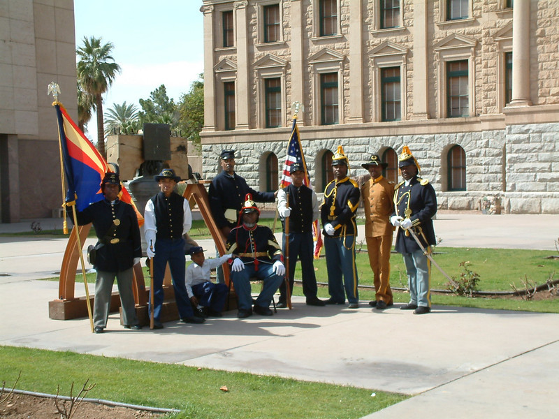 Buffalo Soldiers of the Arizona Territory, Mesa, AZ.  March 5, 2011