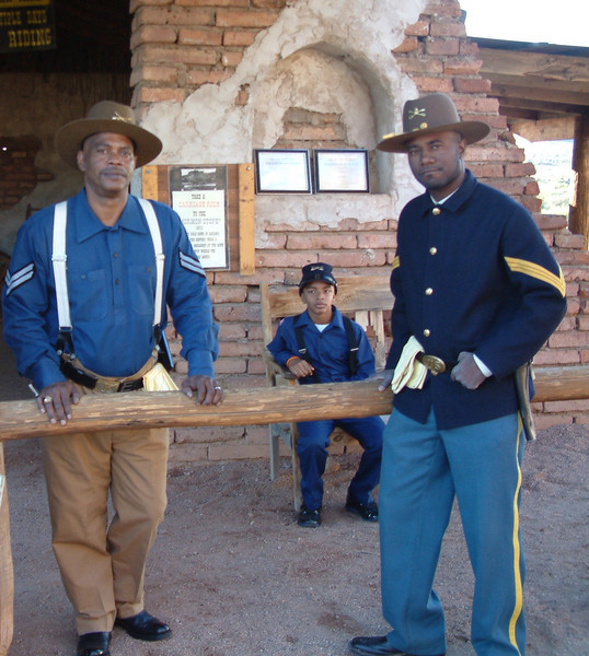 Buffalo Soldiers and Young Buffalo Soldier just chillin at Ghostfield Ghost Town.